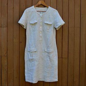 Orvis Linen Shirt Dress